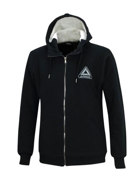 Winter Sweatshirt Crew Pro Line mit Kapuze und Full Zip Schwarz Set