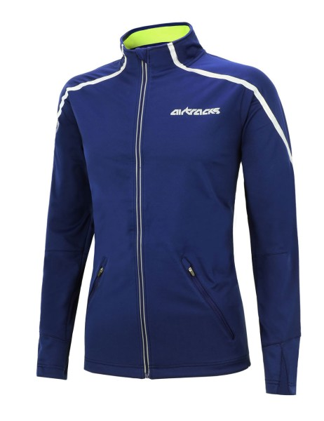 Winter Thermo Fahrradjacke / Laufjacke Air Tech Blau