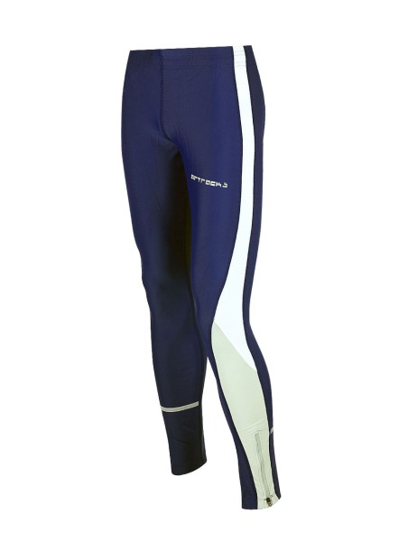 Damen Laufhose Tight Lang Navy Blau