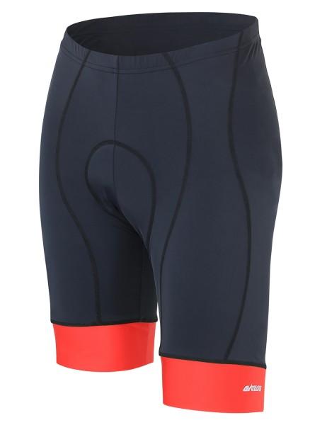 Kurze Fahrradhose Comfort Line Schwarz Rot