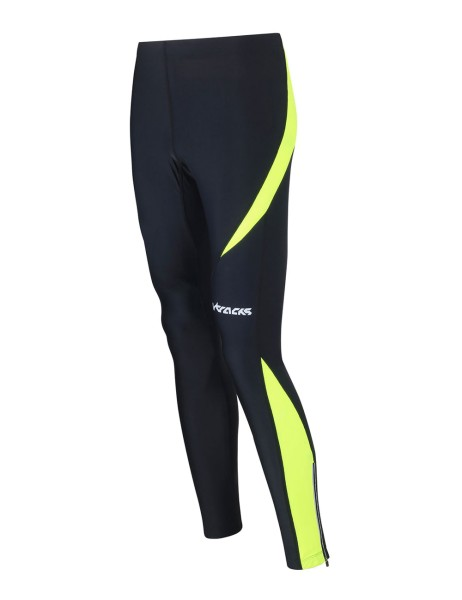Winter Thermo Laufhose Lang Pro Schwarz-Neon