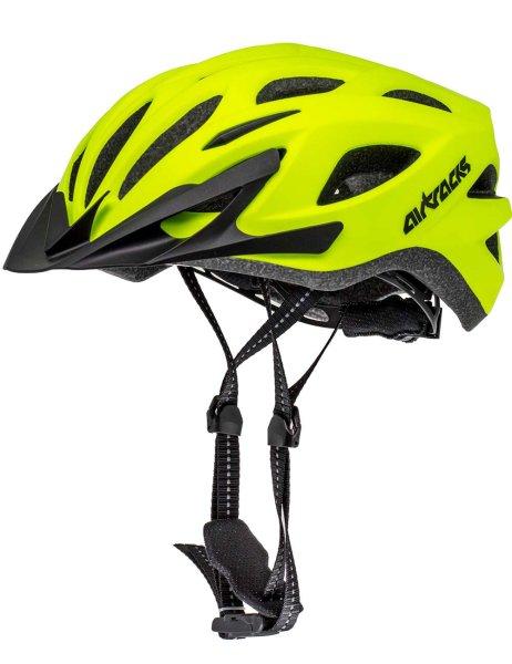 Fahrradhelm / Radhelm Green Neon Matt S M L XL 53-58 58-63 cm