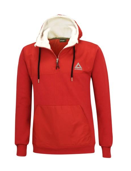 Winter Sweatshirt Crew Pro Line mit Kapuze und Zip Rot Set