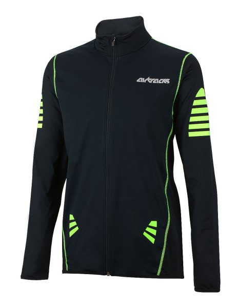 Winter Thermo Radtrikot Pro Schwarz-Neon