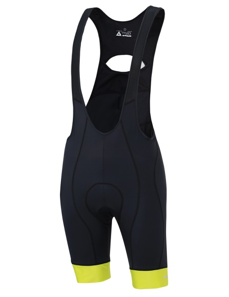 Kurze Radhose mit Trägern Comfort Line Schwarz Neon