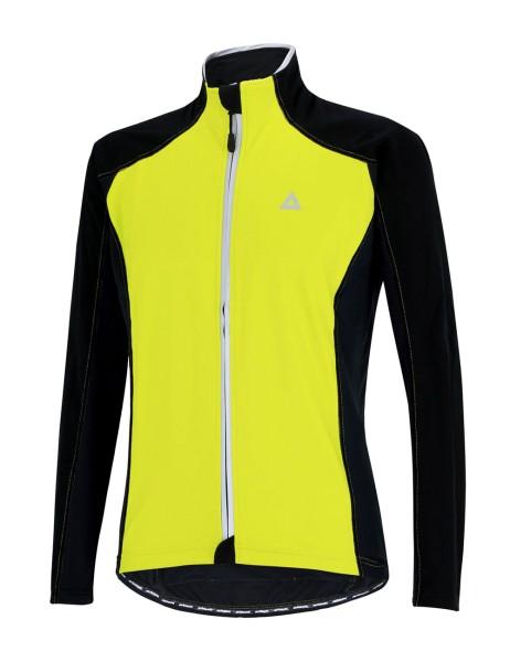 Thermo Fahrradjacke Comfort Line Schwarz Neon