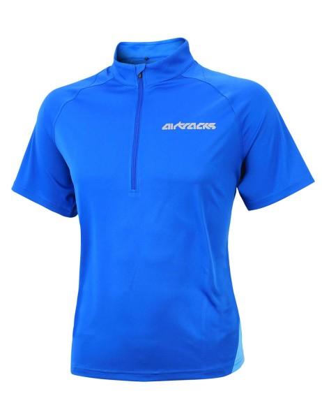 Laufset / Laufhose Kurz Pro Air + Laufshirt Kurzarm Air Tech Roial Blau