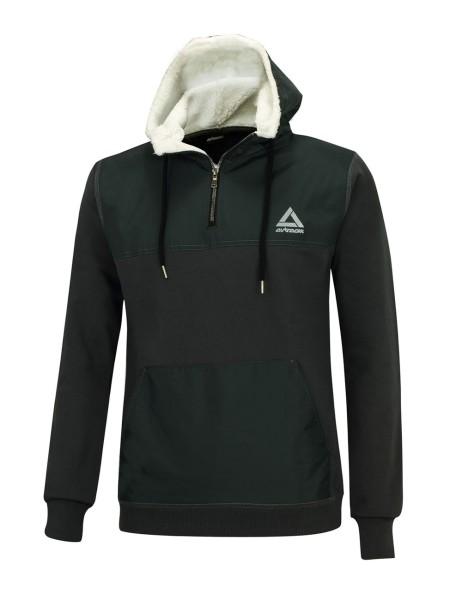 Winter Sweatshirt Crew Pro Line mit Kapuze und Zip Grafit