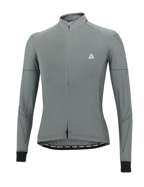 Fahrradtrikot Langarm Pro Line Grau Schwarz