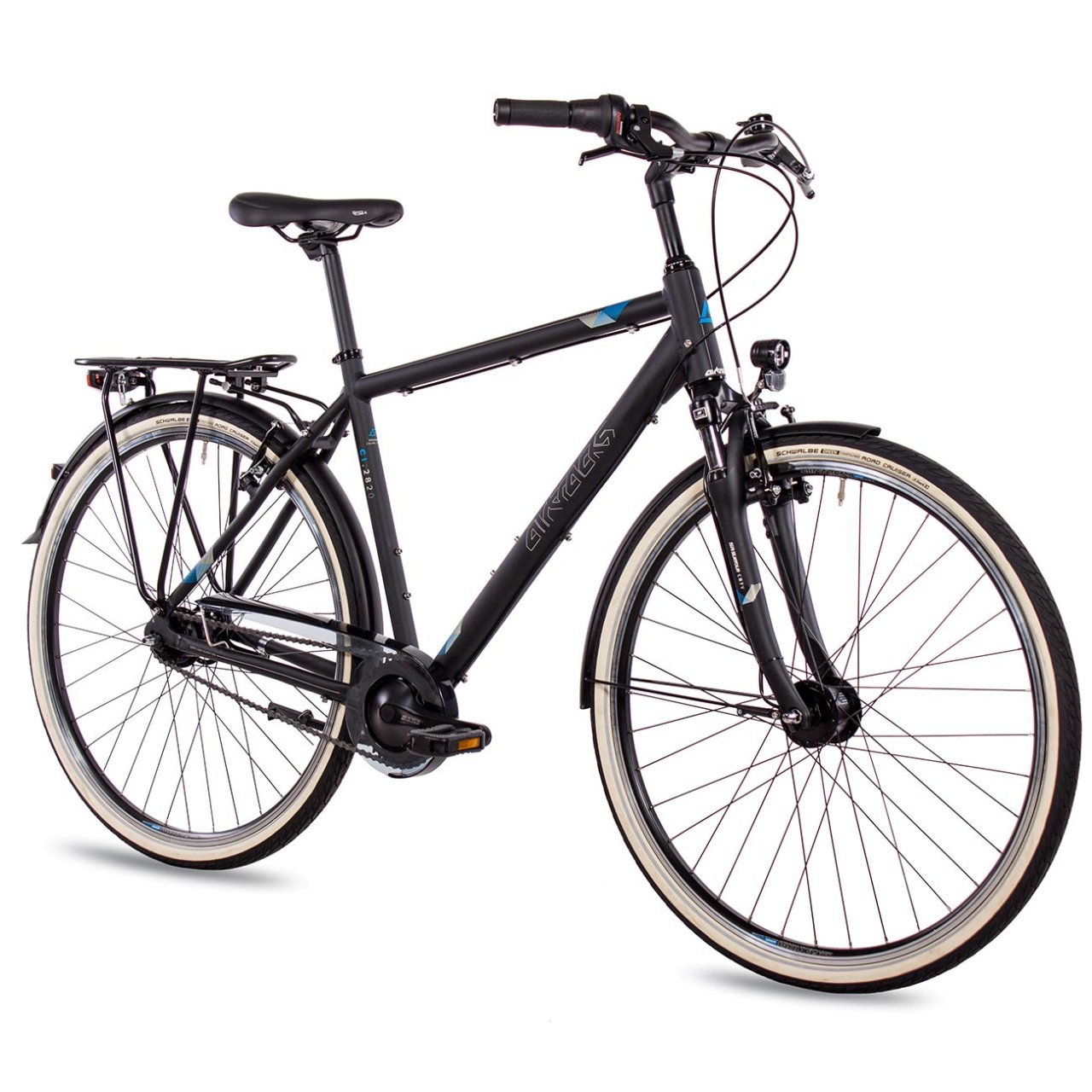 Korb Fahrrad-Licht Damen Multibrand Probike 28 Zoll City Fahrrad Shimano 7 Gang Herren geeignet ab 170-185 cm