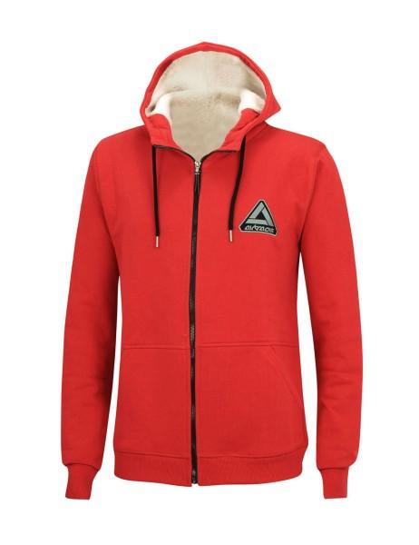 Winter Sweatshirt Crew Pro Line mit Kapuze und Full Zip Rot