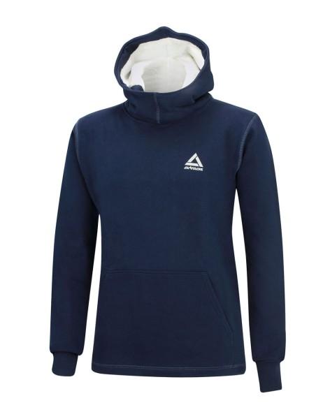 Winter Sweatshirt Crew Comfort Line mit Kapuze Navy-Blau