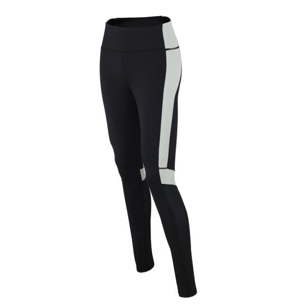 Damen Fitnesshose / Laufhose Lang Schwarz Grau Red Decoct