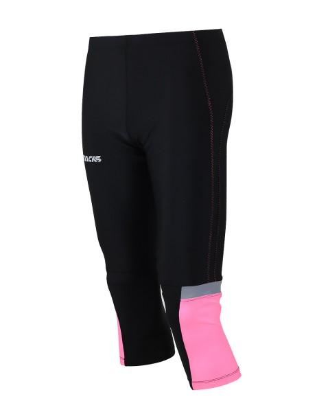 Damen Laufhose Tight 3/4 Lang Pink