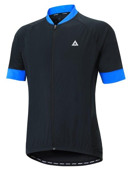 Fahrradtrikot Kurzarm Comfot Line Schwarz Blau