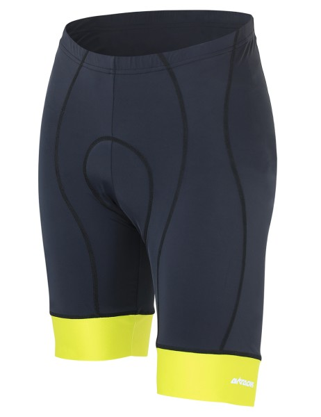 Kurze Fahrradhose Comfort Line Schwarz Neon