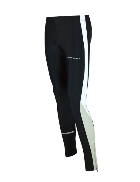 Winter Thermo Laufhose Tight Lang Schwarz