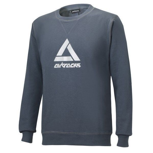 Winter Sweatshirt Crew Team Grau
