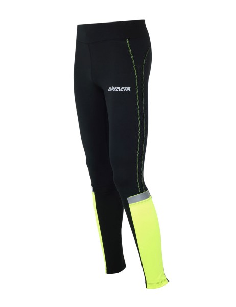 Damen Winter Thermo Lauftight Lang Neon