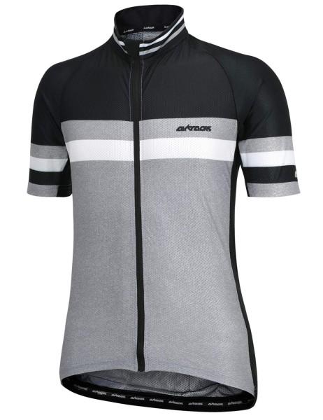 Fahrradtrikot Kurzarm Pro Line Schwar-Grau