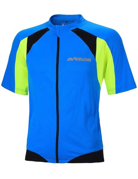Fahrradtrikot Kurzarm Pro T Blau-Neon