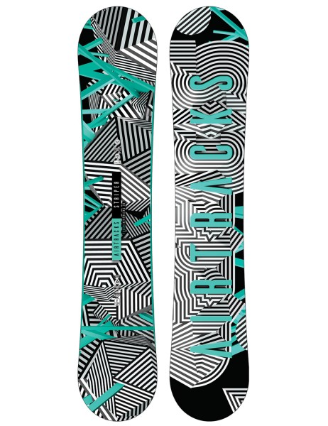 Stripes Snowboard Flat Rocker