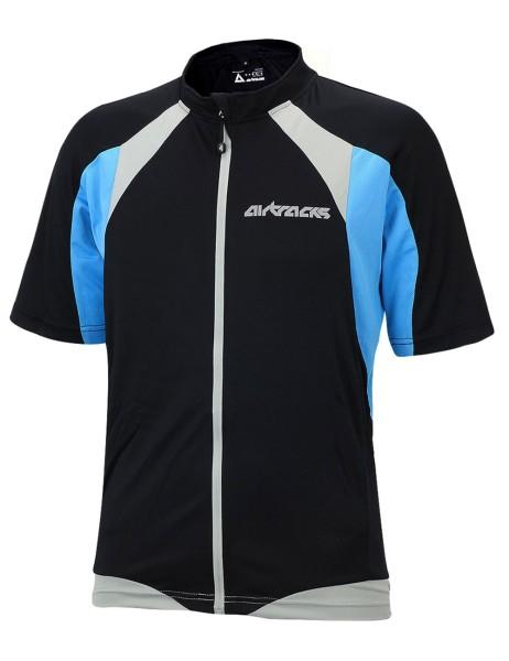 Fahrradtrikot Kurzarm Pro T Schwarz-Blau