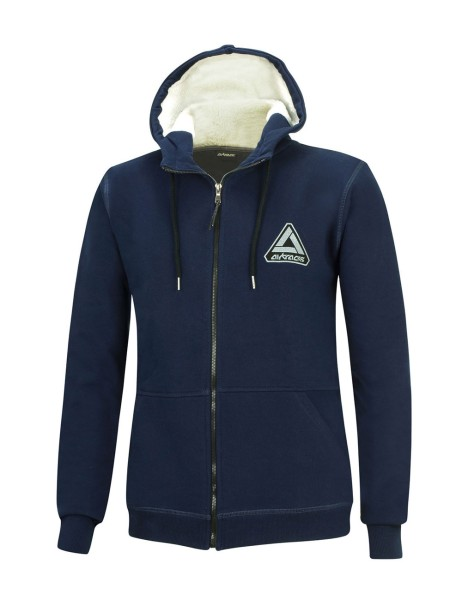 Winter Sweatshirt Crew Pro Line mit Kapuze und Full Zip Navy-Blau Set