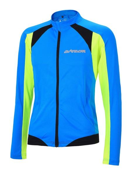 Fahrradtrikot Langarm Pro T Blau-Neon