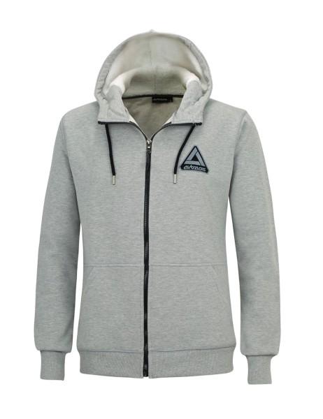 Winter Sweatshirt Crew Pro Line mit Kapuze und Full Zip Grau-Melange Set